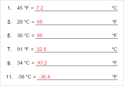 Printables Temperature Conversion Worksheet temperature conversion worksheet with answers bloggakuten worksheets pichaglobal