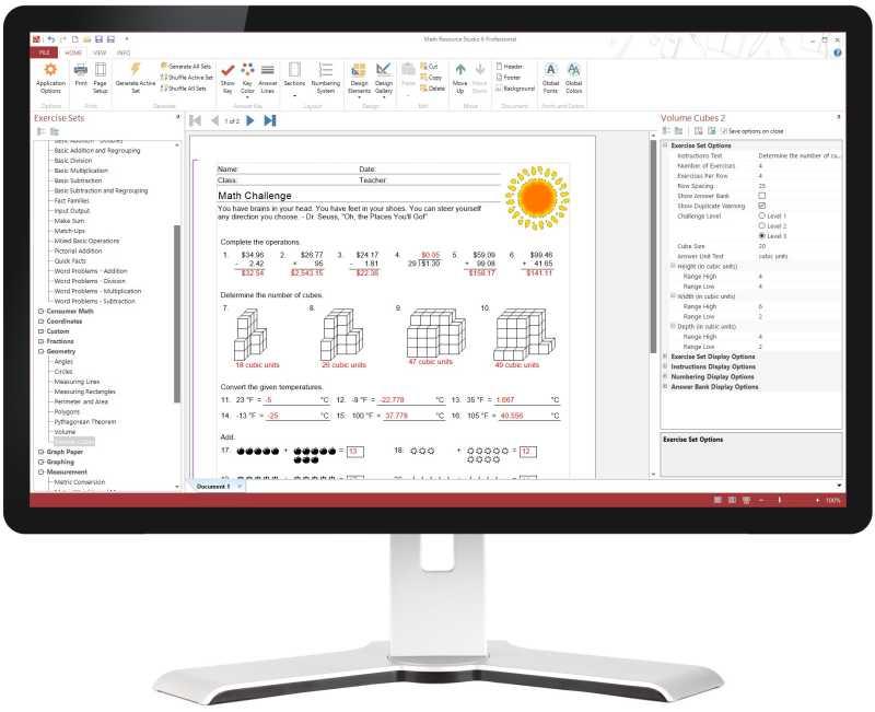 Math Worksheet Maker For Teachers Math Resource Studio
