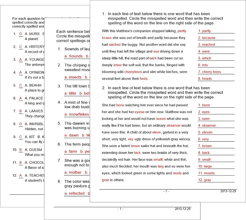 Vocabulary Worksheet Maker for Teachers : Schoolhouse ...