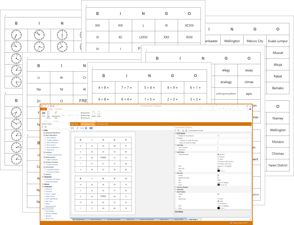 picture about Math Bingo Printable named Tool Manufacturing Computer software for Lecturers