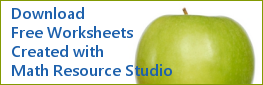 Download Free Worksheets Created with Math Resource Studio