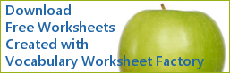 Download Free Worksheets Created with Vocabulary Worksheet Factory