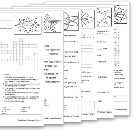 Vocabulary Worksheet Factory